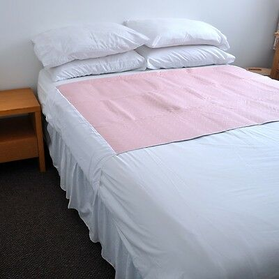 COMFORTCARE 85x 115 cms, WITH WINGS 4 LTR WASHABLE REUSABLE BED PAD DOUBLE BED.
