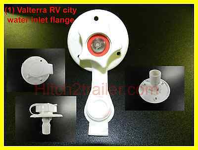 RV Valterra White city water fill inlet flange with check valve trailer Marine