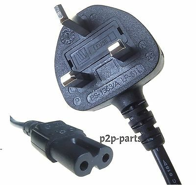 New FIGURE 8 MAINS 2 PIN POWER LEAD CABLE PLUG CORD LAPTOP FOR PLAYSTATION 4 TV