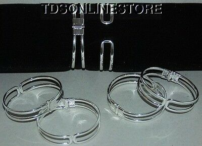 Silver Plated Bracelet Cuffs for Jewelry Making With Spring Closure 12 Pk