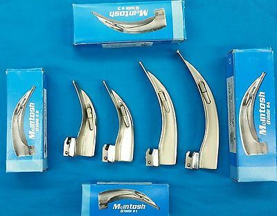 New Premium Grade Laryngoscope Mac Set Of 4 Blades Emt Anastasia Intubation