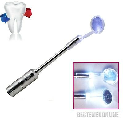 Bright Durable Dental Mouth Mirror with LED Light Removable Autoclavable Super