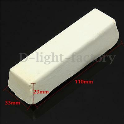 White Rouge Abrasive Metal Grinding Buffing Compound Polishing Paste 110*33*23mm