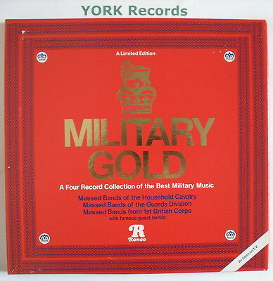 MILITARY GOLD - Various Military Bands - 4 LP Record Box Set Ronco RTD4-2042