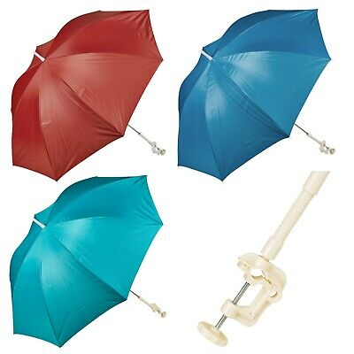 Screw Clamp Garden Beach Deck Chair Parasol Sunshade Sun UV Protection Umbrella