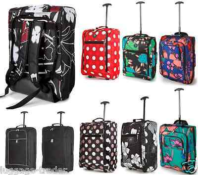 EasyJet 50x36x20 Trolley Cabin Approved Wheeled Case Hand Luggage Flight Bag BMI