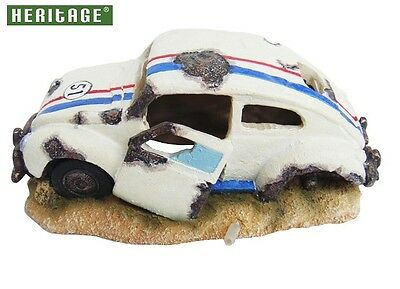 Heritage Jq038A Aquarium Fish Tank Vw Beetle Herbie Type Ornament Bubbler Decor
