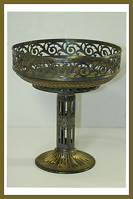 Vintage ORIVIT AG 482 SilverPlate Fruit Bowl Vase on Pedestal