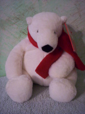 "2013 - Coca-Cola Bear with red embroidered scarf - 7""tall plush - NWT - Dan Dee"