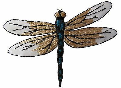 "#4370 3 1/4"" Embroidery Iron On Dragonfly Applique Patch"