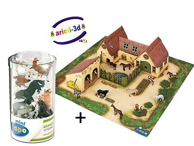 Lot Of Farm & 13 Mini Farm Animals Papo Mini Figure Figurines #33100 #33015 New