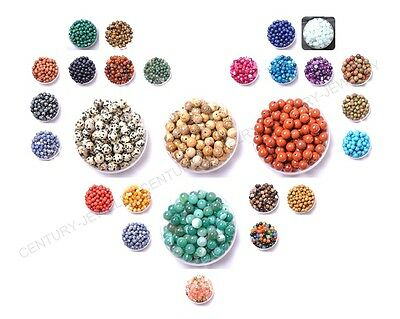 100Pcs Natural Gemstone Round Spacer Loose Beads 4MM Pick Assorted