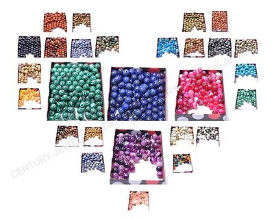 100Pcs Natural Gemstone Round Spacer Loose Beads 8MM Pick Assorted