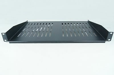 RACKMOUNT SHELF 2U FOR 19 INCH RACK - BLACK 400mm DEEP cantilever modem SHELF