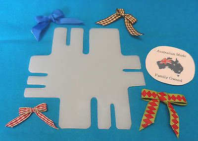 BOW MAKER - plastic template - makes 7 different size bows - free postage