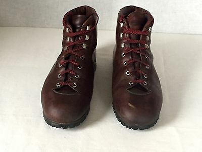 VINTAGE Brown Leather RAICHLE MOUNTAINEERING HIKING TRAIL BOOTS Mens 10.5