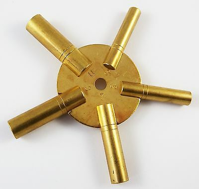 Brass Clock Spider Key Winding Keys 3-11 New Tool