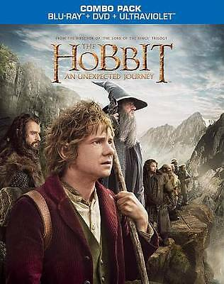 The Hobbit: An Unexpected Journey (Blu-ray/DVD, 2013, 2-Disc Set) NEW SEALED