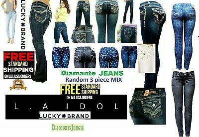 new MIX Juniors WOMENS BLUE Denim Stretch JEANS Skinny Ripped Distressed Pants