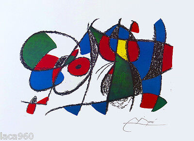 JOAN MIRO Limited Edition P/Signed Lithograph Vol II Litho VIII