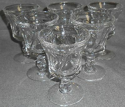 Set (6) Fostoria Glass JAMESTOWN CLEAR PATTERN Wine Stems