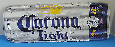 Corona Light 12Fl Oz. Beer Can Embossed Metal Sign Tacker New