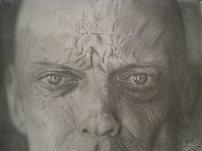 Ultra Realistic Drawing of wrinkled face from the artist