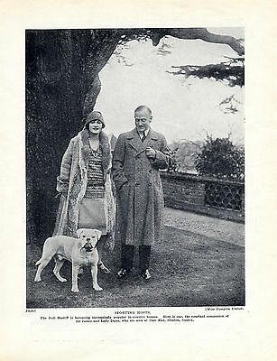 Early Bullmastiff And Aristocratic Owners Original Dog Print Page From 1934