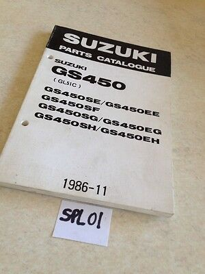 Suzuki parts list GS450 SE EE SF SG EG SH EH GL51C GS 450 ed. 1986