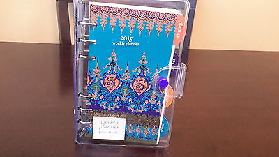 NEW - 2015 Vinyl Moroccan Bord Weekly Planner
