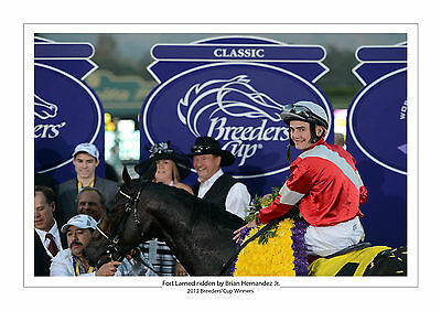 FORT LARNED BRIAN HERNANDEZ Jr 2012 BREEDER'S CUP HORSE RACING  A4 PRINT PHOTO 2