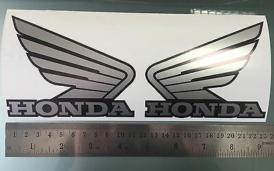 Honda Wings Logo Decals / Stickers for Tanks (PAIR) (ANY COLOUR WITH OUTLINES)
