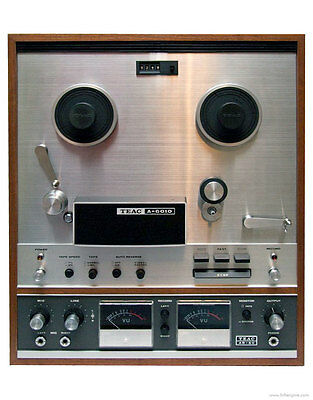 Vintage TEAC Model A-6010 Reel to Reel Stereo Tape Deck w/ TZ-601 cover