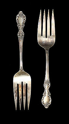 WM Rodgers Mfg Co Extra Plate Lot of 2 Meat Serving Forks Southern Manor Pattern