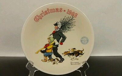 """Norman Rockwell ~ Christmas 1993 ~ """"The Tree Brigade"""" ~ Collector Plate"""