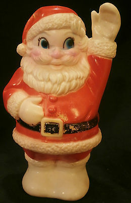 SANTA CLAUS Vintage Rubber Christmas  Squeak Toy / Barely Used; Works Perfectly!