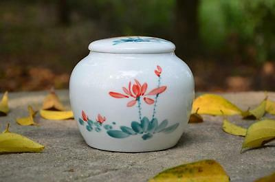 Flower Pattern * Jingdezhen Blue And White Porcelain Tea Caddy Container