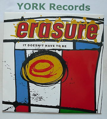 """ERASURE - It Doesn't Have To Be - Ex Con 7"""" Single"""