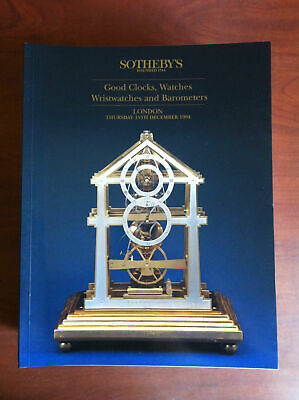Auction catalogue Sotheby's Clocks Watches Wristwatches Barometers 1994 - E16875