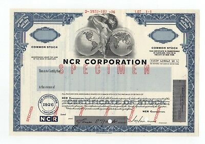 SPECIMEN - NCR Corporation Stock Certificate