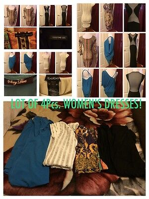 LOT OF 4PCS. SEXY PARTY/COCKTAIL Mixed Brands BEBE&more Women'S DRESSES!P/small