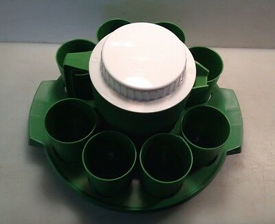 Vintage Fox Specialty Co Worchester Mass. USA Plastic Pitcher 8 Cups & Tray