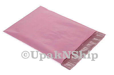 100 9x12 PALE PINK & 100 10x13 HOT PInk Poly Mailers Couture Boutique Bags 200