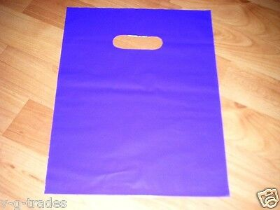 "LOT OF 50 9"" x 12"" PURPLE GLOSSY Low-Density Plastic Merchandise Bags Gift Bags"
