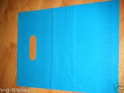 "LOT OF 50 9"" x 12"" TEAL GLOSSY Low-Density Plastic Merchandise Bags Gift Bags"