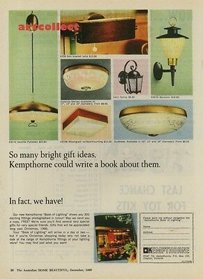 Original Vintage Australian Ad: Kempthorne Lighting (1966)