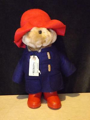 """Paddington Bear 1981 Blue Mohair Double Breasted Coat Red Hat Boots 14"""""""