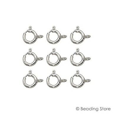 Various Sizes 925 Sterling Silver Spring Bolt Trigger Clasp Clasps Open Ring