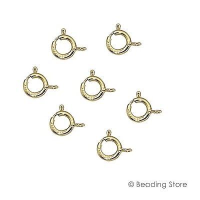 Various Sizes 14ct Yellow Gold Filled Spring Bolt Trigger Clasp Clasps Open Ring