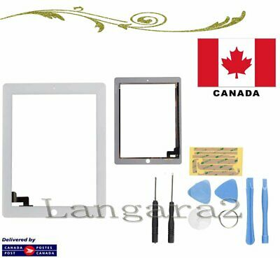 Compatible for iPad 2 Touch Screen Glass Display Digitizer White + Opening Tools